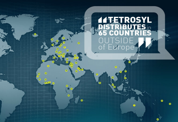 Tetrosyl Distribution Map