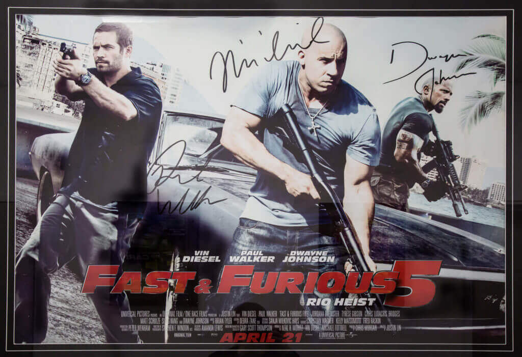 Signed by the cast Fast and Furious Poster