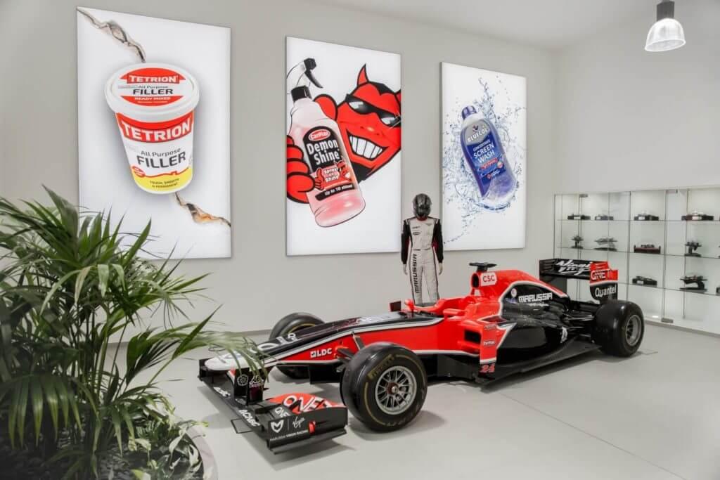 Marussia car in HQ reception