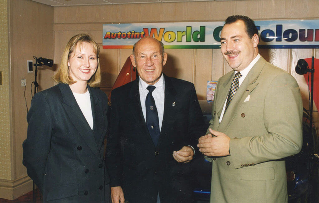 Chairman Peter Schofield with Sir Stirling Moss